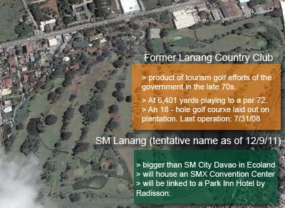 SM Lanang site - the former Lanang Country Club